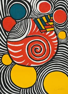 "¤ Alexander Calder ""Spiral and Pyramid"""