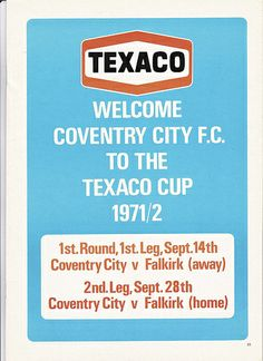 All the excitement of the Texaco Cup as Coventry host Falkirk   Love this picture!  Check this out at all these great signs I found to add to your home all starting at a penny!  Just Click the photo above:  http://stores.ebay.com/clockworkalpha/