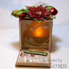 Caixa de Luz de Natal / Christmas Light Box Christmas Wishes, Projects To Try, December, Gift Wrapping, Scrapbook, Day, Crafts, Inspiration, Layouts