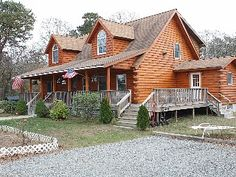 Luxury Custom Log Home with Water View - Vacation Rental in Oak Bluffs from @homeaway! #vacation #rental #travel #homeaway