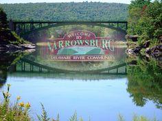 Narrowsburg, NY   bridgesignp1f by gwp57, via Flickr