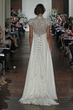 Back of Jenny Packham's Rapunzel gown
