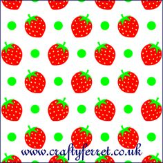 Free printable Strawberry craft backing paper from Craft Ferret