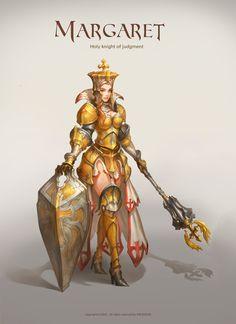 GGSCHOOL, Artist 위지은, Student Portfolio for game, 2D Character Concept Art, www.ggschool.co.kr 2d Character, Character Costumes, Character Concept, Concept Art, Pageant Makeup, Pageants, Paladin, Zbrush, Priest