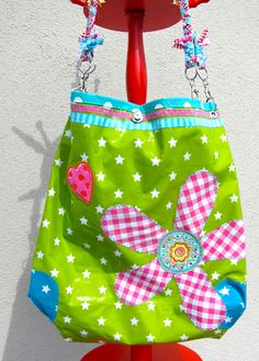 fabric bag in vivid colors- Pernille Farbenmix