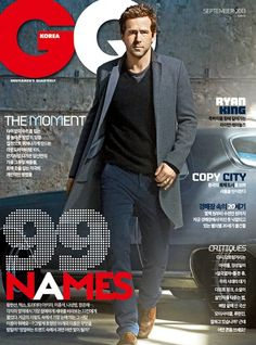Ryan Reynolds | GQ South Korea Gq Magazine Covers, Fashion Magazine Cover, Magazine Cover Design, Cover Boy, Gq Men, Gq Style, Good People, Amazing People, Ryan Reynolds