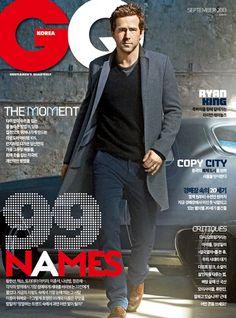 GQ magazine cover, Ryan Reynolds