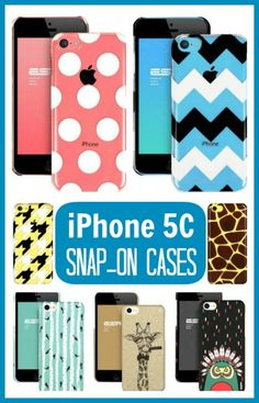 iPhone 5C Snap-On Cases in tons of different designs for just $9.99. I love the clear ones so you can see the colored phone in the background, but the peacock one may be my favorite. Great reviews!