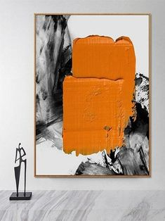 Original Painting On Canvas Orange Painting Black Abstract Painting Artwork Canvas Most graffiti is stylized and purposeful. It's art against the backdrop of the urbanized spaces of the world.Most graffiti is stylized and purposeful. It's art a. Orange Painting, Oil Painting Abstract, Abstract Wall Art, Black Abstract, Diy Canvas Art, Canvas Wall Art, Mughal Paintings, Art Deco Paintings, Art Moderne