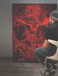 """Oil Painting, title:""""AS I WALK THROUGH THE VALLEY OF THE SHADOW OF DEATH IS"""" (2015) •dimension 130 x 100 x 5cm / oil, akrylic on plywood •weight 11 kg PL. """"GDY PRZECHODZĘ PRZEZ CIEMNĄ DOLINĘ ŚMIERCI"""" (2015) •wymiary 130 x 100 x 5cm / olej, akryl na sklejce •waga 11 kg"""