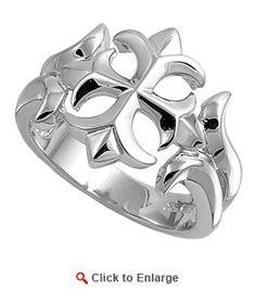 Sterling Silver Ladies Iron Cross Ring / badassjewelry.com