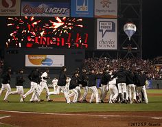 And we celebrate....#SFGiants