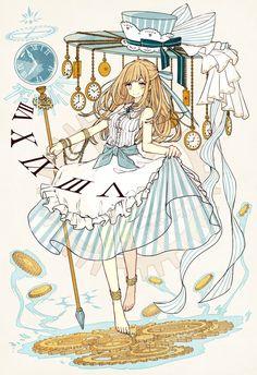 Alice in the wonderland (anime style) Anime Chibi, Kawaii Anime, Anime In, Anime Art Girl, Manga Anime, Disney Kunst, Disney Art, Cartoon Cartoon, Anime Style