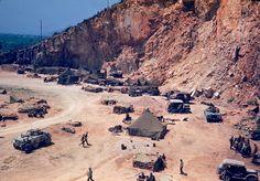 American troops camped