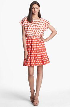 Eliza J Print Blouson Dress