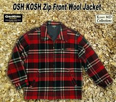 Osh Kosh Zip Front Wool Jacket
