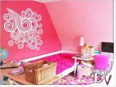 #szoba #dekoráció #stílus #csajos #minta #ötletek #lányszoba #fehér #rózsaszín #fal #inspiráció #otthon #falmatrica Home Decor, Decoration Home, Room Decor, Home Interior Design, Home Decoration, Interior Design