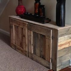 Amazing DIY Recycled Pallet Cabinets | Recycled Pallet Ideas