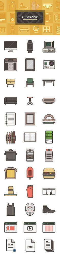 Illustricons: 36 Free Icons | GraphicBurger