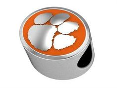 Our Clemson Tigers College Bead is made with sterling silver and a colored enameled logo. Works perfectly on a bracelet or necklace. Our col...