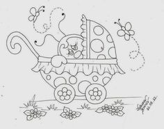 Catia Artes Manuais: RISCOS DE JOANINHAS PARA PINTURA EM TECIDO