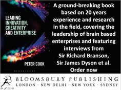 Bloomsbury books, Leading Innovation, Creativity and Enterprise, Peter Cook