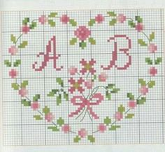 This Pin was discovered by Kan Cross Stitch Owl, Cross Stitch Letters, Simple Cross Stitch, Cross Stitch Borders, Cross Stitch Flowers, Cross Stitching, Cross Stitch Embroidery, Wedding Cross Stitch Patterns, Cross Patterns
