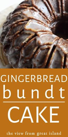 Glazed Gingerbread Bundt Cake ~ A tender lightly spiced gingerbread cake iced with a thin sugar glaze ~ this delicious cake is guaranteed to get you into the holiday spirit. #recipe #gingerbread #video #bundtcake #cake Brownie Recipes, Cake Recipes, Snack Recipes, Dessert Recipes, Cooking Recipes, Xmas Recipes, Beef Recipes, Recipies, Christmas Desserts
