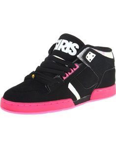 7bcaacfe5a Osiris Womens NYC 83 Mid Black Pink Halftone Skate Shoes and other Osiris  Girls