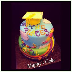 Oh, the places you'll go! Dr. Seuss Graduation Cake