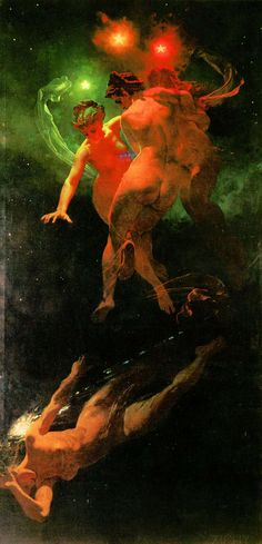 Mihály Zichy - Estrelas Cadentes, 1879.