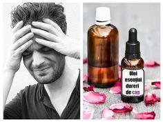 O metodă simplă și eficientă prin care putem reduce durerea de cap în mod natural este prin utilizarea uleiurilor esențiale. Atât inhalarea parfumului lor, cât și aplicarea lor externă poate ajuta la reducerea durerilor provocate de Whiskey Bottle, Essential Oils, Fragrance, Essential Oil Uses, Essential Oil Blends