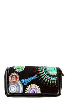 Desigual women's Tdouble Zip Around Eclipse purse. It has a double zip fastening. It's from the new Why