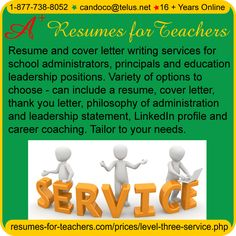 Interview coaching, resume and cover leter writing services, LinkedIn profile writing for Principals / Administrators - A+ Resumes for Teachers
