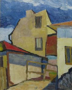The Edge of the City - Horia Bernea Fauvism, Christmas Paintings, Art Database, Figurative Art, Paris France, Art History, Folk Art, Watercolor, City