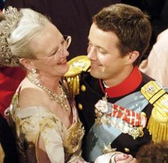 | Queen Margrethe and Crown Prince Frederik.Tumblr