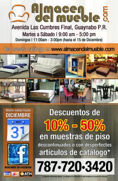 """Flyer 8.5""""x5.5"""" Almacén Del Mueble, Guaynabo, Puerto Rico. (Descuentos)"""
