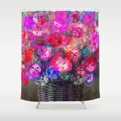 Buy Shower Curtains featuring Purple bouquet. by Mary Berg. Made from 100% easy care polyester our designer shower curtains are printed in the USA and feature a 12 button-hole top for simple hanging.