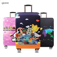 Jacksome World Travel Attractions Travel Luggage Cover Suitcase Protector Baggage /& Luggage Size XL Fit 18 to 32 29-32 inch