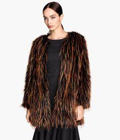 Fake fur jacket | H&M Trend