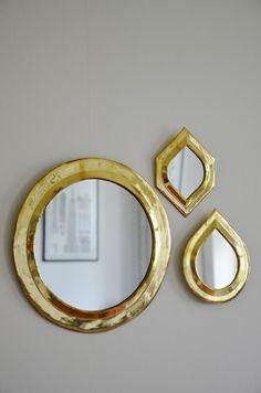 "Spegel ""Rund"" L, mässing, Tine K Home"