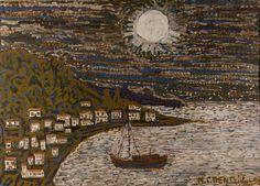 Moon Art, Painter, Painting, Greek Art, Abstract Art, Art, Aerial, Figurative Art, Fairytale Art