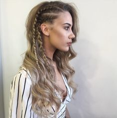 Side boxer braids by Circles of Hair