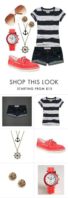 """nautical"" by kasey-beaulieu ❤ liked on Polyvore featuring Abercrombie & Fitch, Hollister Co., Steve Madden, American Eagle Outfitters and MANGO"