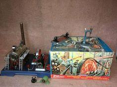 Wilesco Dampfmaschine D20 im original Karton + Zubehör wie Scheinwerfer, selten Ebay, Paper Board