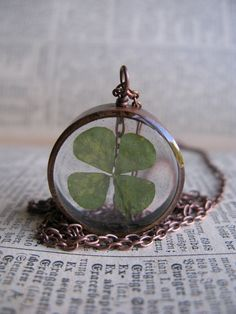 Leaf Clover Pendant totally need for bday