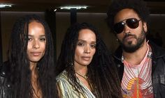 Zoë Kravitz's American rocker dad Lenny Kravitz, 51, showed he's still the best of friends with ex-wife Lisa Bonet, 48, as they attended the Saint Laurent fashion show in Los Angeles on Thursday.