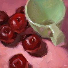 Just a Little Higher, painting by artist Carol Marine Painting Still Life, Still Life Art, Daily Painters, Fine Art Auctions, Fruit Art, Art Graphique, Fine Art Gallery, Illustrations, Art Oil