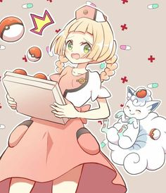 Lillie is kawaii. Pokemon Gardevoir, Pokemon Alola, Pokemon People, Pokemon Fan Art, Cute Pokemon, Pikachu, Pokemon Stuff, Pokemon Human Characters, All Pokemon Games
