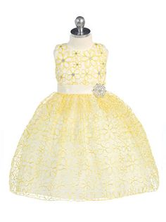 Flower Girl Dress Style 9208- Printed Sleeveless Floral Dress with Rhinestone in Choice of Color  This eye catching dress is absolutely exquisite in detailing. The sleeveless style features an all over floral design and rhinestone accents to give the dress extra pop. To give the dress that perfect finishing touch, take note of the waist sash accented by an ornate rhinestone brooch.  http://www.flowergirldressforless.com/mm5/merchant.mvc?Screen=PROD&Product_Code=TT_9208&Store_Code=F..
